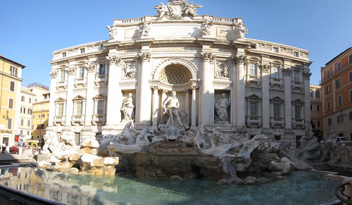 Trevi Fountain turned off (pano)