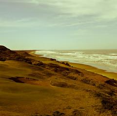 Pacific Dunes hole 11 and Old McDonald hole 7 (Nooobi) Tags: travel color art beach nature oregon contrast mediumformat golf landscape pentax wideangle squareformat mf nik bandon 645d lightroom3 digitalmediumformat