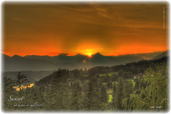 Sunset Millstatt 6 (peter pirker) Tags: sunset red orange sun rot canon landscape austria sterreich sonnenuntergang krnten carinthia berge landschaft sonne dri hdr dynamik millstttersee millstatt peterfoto eos550d