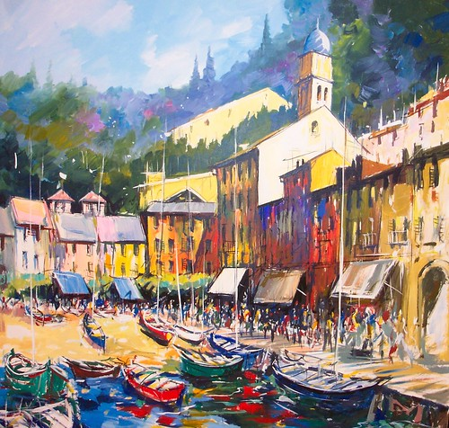 Portofino   Painting - Original