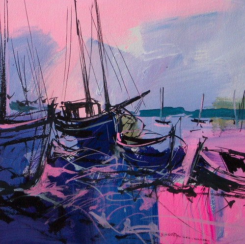Pink and Blue  Painting - Original