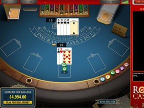 Royale Blackjack Win