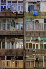 Hong Kong Building. (Stefano Nasini) Tags: window facade hongkong kowloon mongkok tsimshatsui buiding yaumatei