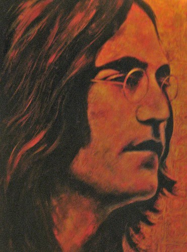 John Lennon - Painting - Realism
