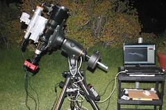 Deep sky scope setup for Veil shot (edhiker) Tags: yard guiding edhiker 102mm ngc6960 autoguider cgem autoguide gpusb st8300