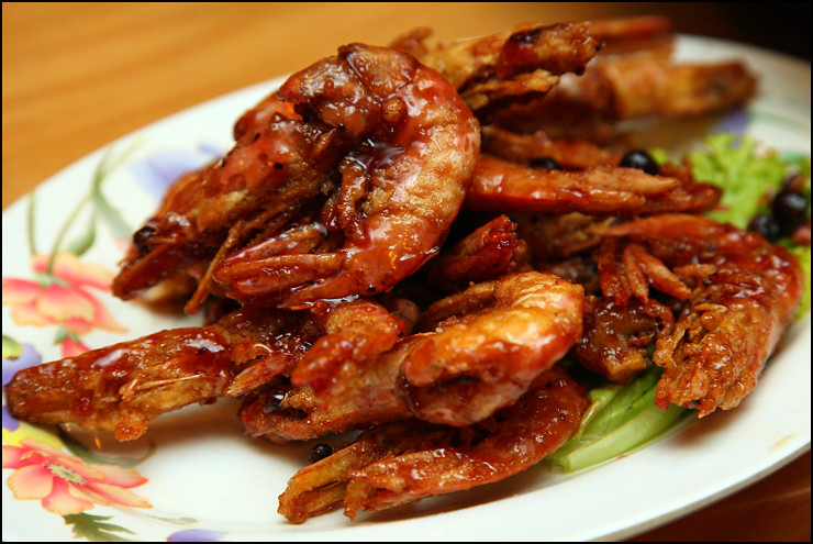 fried-grape-prawns