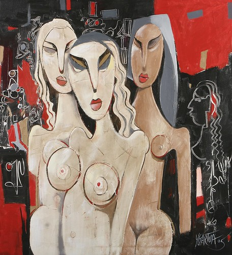 Ladies in Waiting - Painting - Modern Expressionism