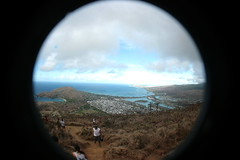 View from Koko Head Crater (dL-chang) Tags: friends beach fun hawaii oahu fisheye hikehiking kokoheadhike