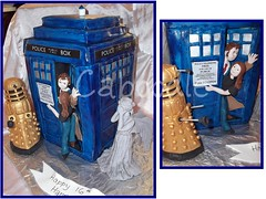 dr who? (The Whole Cake and Caboodle ( lisa )) Tags: newzealand david cakes cake hannah drwho dalek tardis whangarei fondant tennant caboodle weepingangel golddalek dahlek thewholecakeandcaboodle tuisaula