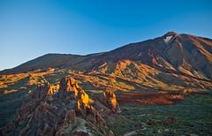 Morning Light on El Teide (lighthunter09) Tags: africa morning travel blue sky mountain horizontal sunrise early spain nikon african mount tenerife vulcano elteide 2040mm d700