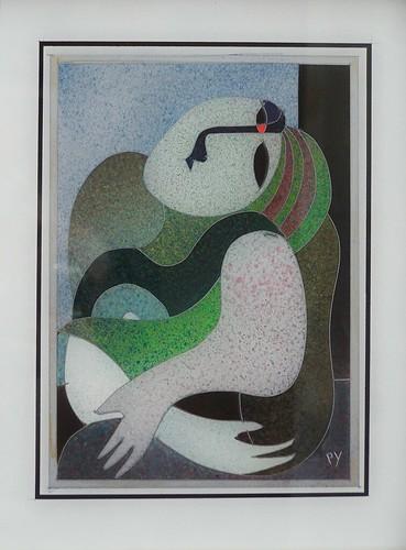 Chica Verdde - Painting - Original Plexiglass