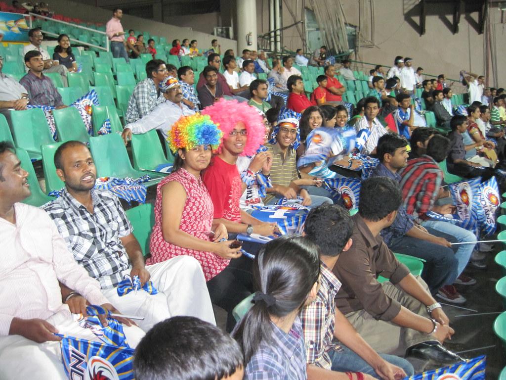 Cricket Fans Enjoying a Cricket Match - Bangalore