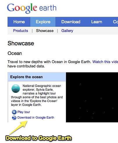 Google Earth: Ocean