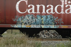 Arise (A & P Bench) Tags: train bench graffiti canadian graff railfan freight rollingstock fr
