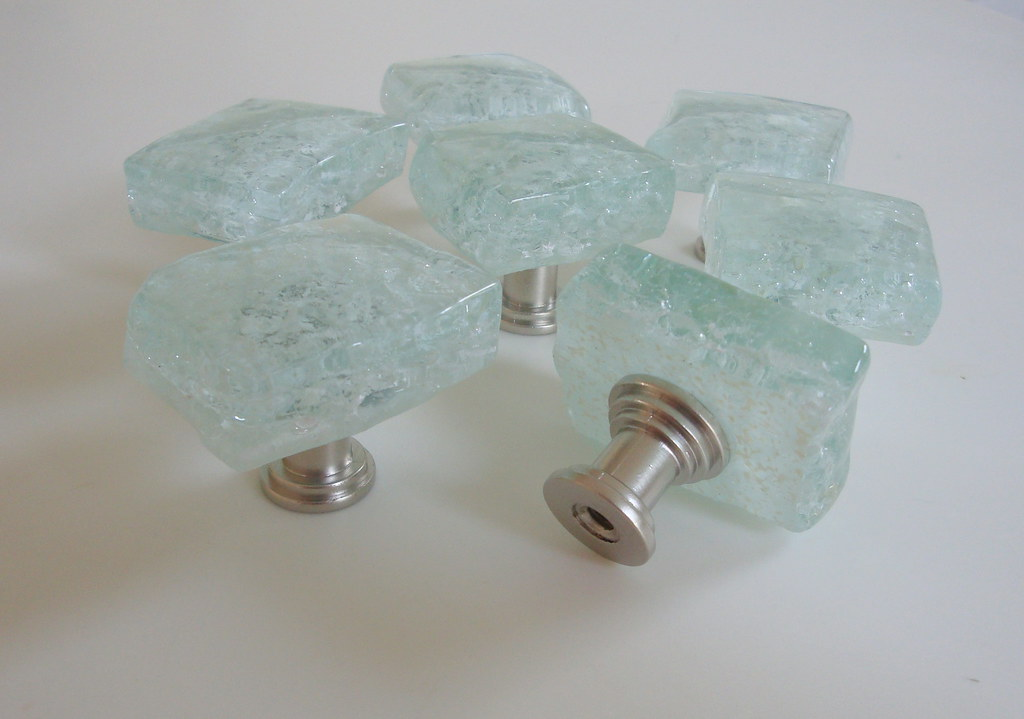 Beach Glass Drawer Pulls Part - 42: Fused Glass Cabinet Knobs White (beachyrustica) Tags: Sea Beach Glass Knob  Knobs Pulls