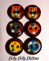 Custom Buttons from Belly Belly Buttons