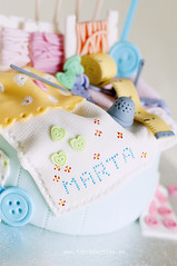 Sewing Box and Cross Stitch Cake 4/4 (Fancy Parties) Tags: crossstitch adm craft sew yarn metric fabric thimble needle button 60 sixty fabrics threads tapemeasure sewingbox boxcake craftcake fancyparties