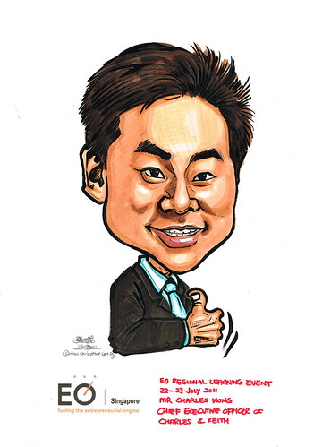 caricature for EO Singapore - Mr Charles Wong