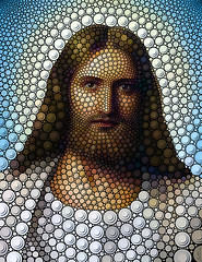 Jesus (Ben Heine) Tags: life christmas portrait art history love face shop closeup circle beard death hope colorful peace friendship god earth contemporary circles magic faith father jerusalem prayer religion jesus birth belief voice kingdom galilee noel popart creation amour believe posters prints christianity guide judaism popculture bethlehem deco messianic opium nativity prophet gospel humanbeing existence dieu jesuschrist cercle paix babel pre christianism testament espoir depiction shanatova buyart prire jesusofnazareth affordableart benheine
