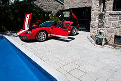 Ford GT poolside 3 (Stephan Bauer) Tags: red ford pool car montreal exotic bauer gt stephan gt40