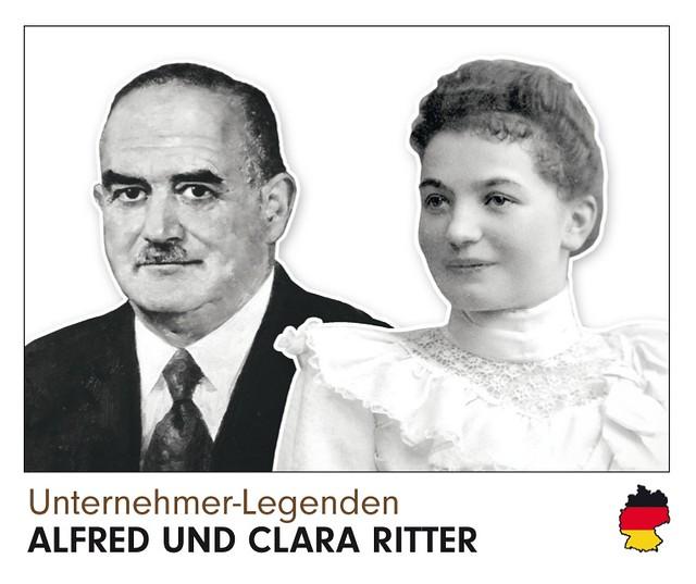 Ritter Sport Alfred und Clara Ritter Panini-Sammelbild