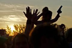 sunrise @ melt festival (Winfried Veil) Tags: leica party music motion girl silhouette festival sunrise 50mm movement hands gun action rangefinder move bewegung rave melt musik sonnenaufgang summilux asph mädchen ferropolis hände m9 2011 pistole schattenriss gräfenhainichen meltfestival bigwheelstage messsucher mobilew leicam9 winfriedveil