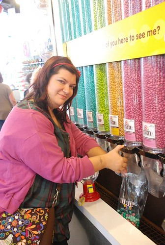 Me at the M&M's shop! *_*