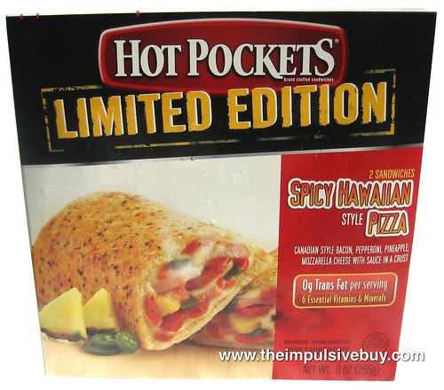Hot Pockets Limited Edition Spicy Hawaiian Style Pizza