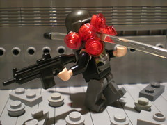 Headshot! (Agent 009) Tags: dead soldier hit blood die lego head military headshot gore killed bullet explode hac showcas brickarms scarl gibrick