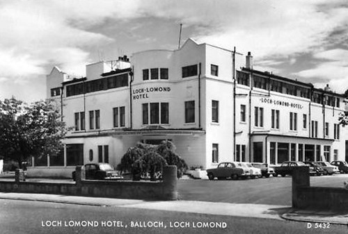 Old postcard of Loch Lomond Hotel 1