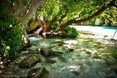 The Fountain of Youth (Christophe_A) Tags: trees summer cold green water fountain youth river kid nikon sigma clear greece feeling christophe polarizer sunspot d90 acherontas christopheanagnostopoulos χριστοφοροσαναγνωστοπουλοσ χριστόφοροσαναγνωστόπουλοσ