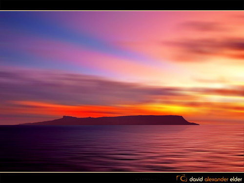 Eigg Evening (Digital Art) by David Alexander Elder by David Alexander Elder