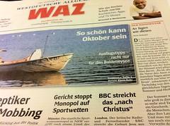 WAZ 01.10.2011: Artikel zur BBC