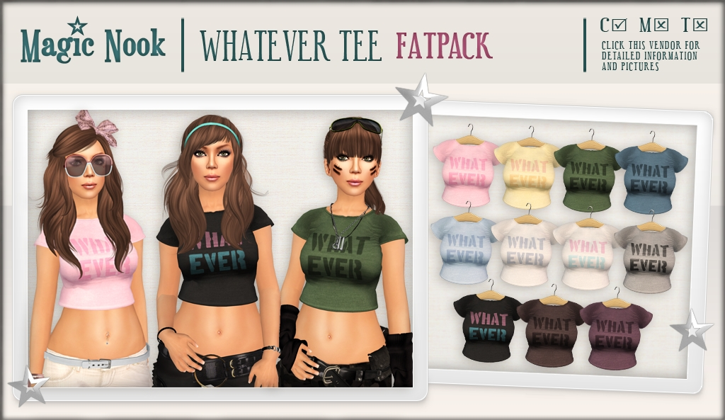 [MAGIC NOOK] Whatever Tee (Fatpack)