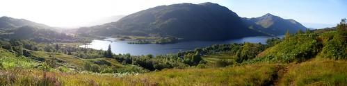 Glenfinnan view, sunny day