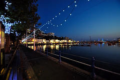Autumn time at Torquay Harbour (rosyrosie2009) Tags: uk sea england seascape water reflections photography lights coast flickr harbour devon torquay westcountry coastpath torbay torquayharbour d5000 tamronspaf1024mmf3545diiildasphericalif rosiespooner rosyrosie2009 rosemaryspooner torquaybridge rosiespoonerphotography