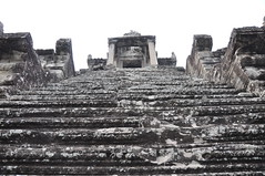 Steep steps leading to the third level - Angkor Wat