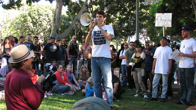 Occupy Los Angeles, day 1 Poetry Reading