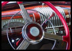 '39 Buick Century Dash (Dusty_73) Tags: auto red classic car wheel century radio pull buick steering interior style ring chrome dash horn speedometer 39 1939 stylish vintagbe