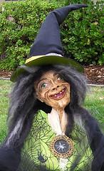 Pannah - Paper Mache Witch Close-up