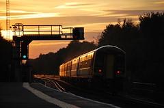 South West Trains Class 159 set (stavioni) Tags: sunset west south main trains farnborough swt class159 159003 159108