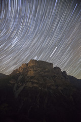 The fountain (ChrisBrn) Tags: sky mountain night star trails startrails