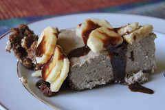 The ultimate banana Carambar cheesecake (Philadelphia inside)