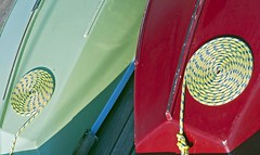 double coil (Dean Forbes) Tags: seattle boats morninglight ropes coils centerforwoodenboats