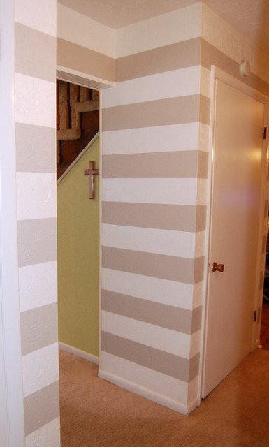 Painted Hallway Stripes