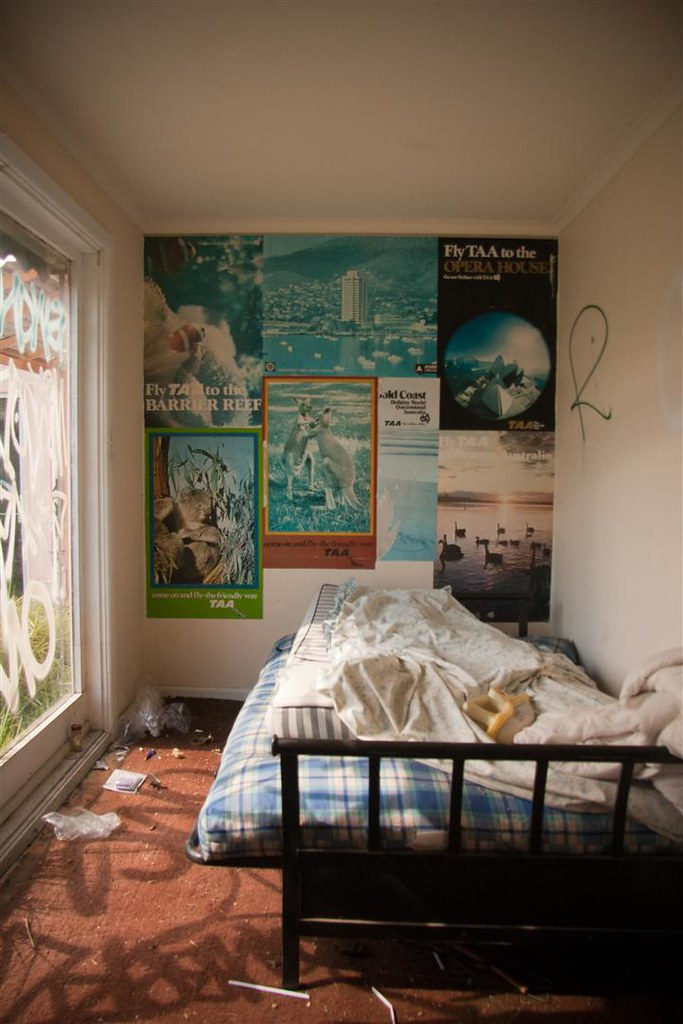bedroom with TAA posters