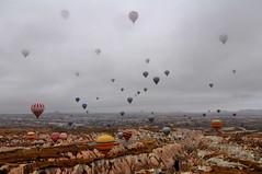 Balloons of Goreme (benalesh1985) Tags: turkey balloons ride turkiye balloon central multiple cappadocia anatolia goreme kapadokya hotairballon centralanatolia