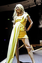 stand strong (Liberated Soul Photography) Tags: show school cute fashion yellow les jaune campus de high women catholic power dress robe north central iowa roosevelt des east lincoln hoover mode catwalk moines femmes dowling défilé passerelle lécole 2011