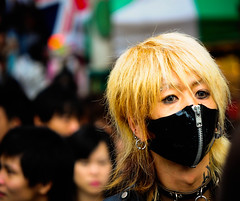 coolest flu mask ever (1/4th) Tags: street portrait people fashion japan tokyo nikon mask style harajuku takeshitadori tokyostyle nikond5000 scottkelbysworldwidephotowalk2011 coolestflumaskever