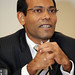 President Mohamed Nasheed of the Maldives, during the CVM presentation in London